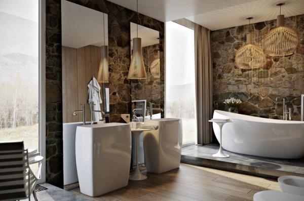красивый дизайн ванной комнаты
