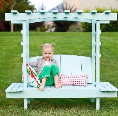 Детская садовая скамейка своими руками