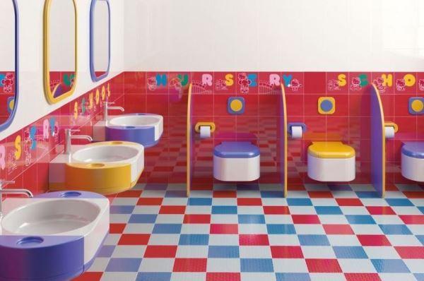 Современные детские ванные комнаты
