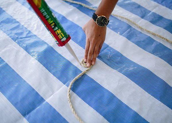 Круглый коврик из веревки своими руками