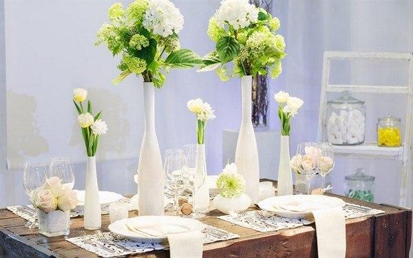 Цветы в интерьере, Букет живых цветов в доме