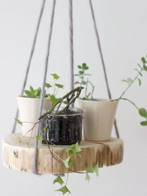 идей мебели и декора для дома из деревянных спилов