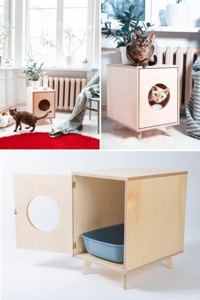 Домики для кошек. 18 оригинальных идей