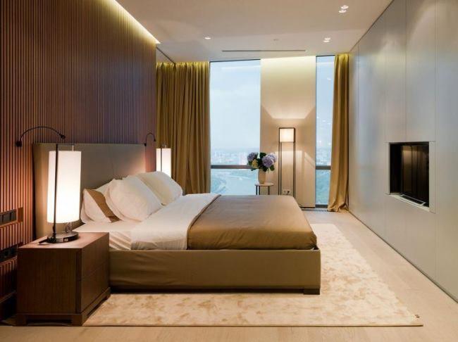 Современные апартаменты на 47 этаже ул. Мосфильмовская от SL PROJECT