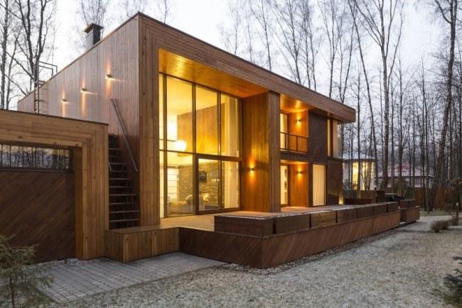 Загородный дом в березовом лесу под Москвой