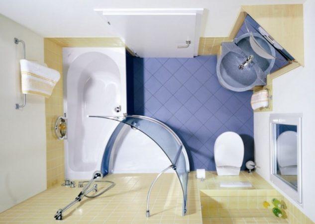12 функциональных вариантов обустройства ванной, совмещенной с туалетом