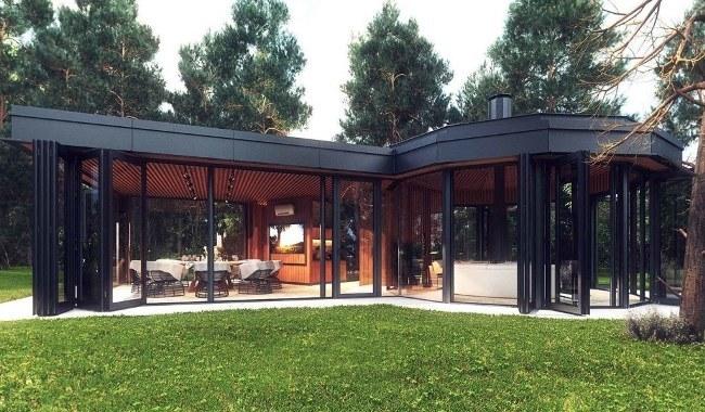 дизайн проекта летнего дома из металлоконструкций