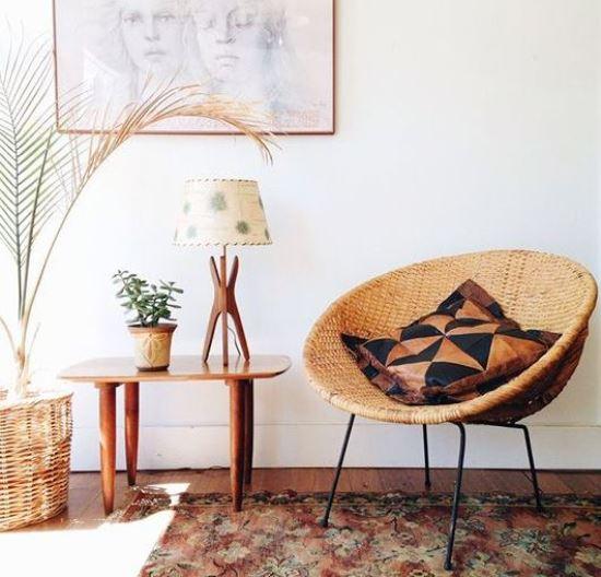 Плетеная мебель и аксессуары в интерьере