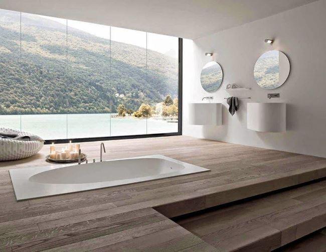 25 способов использовать деревянную отделку в ванной комнате