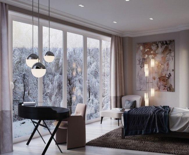 Стильные апартаменты с необычной планировкой под Санкт-Петербургом