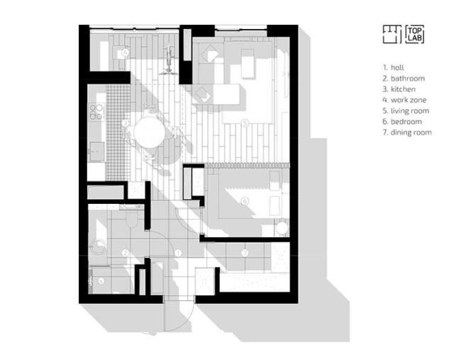 Светлые апартаменты отTop Lab Interiors