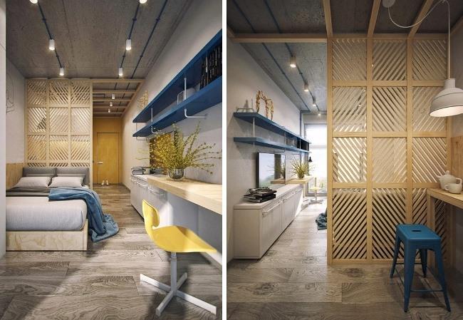 Проект студенческой квартиры отDemirce Architects иАнны Федюкиной