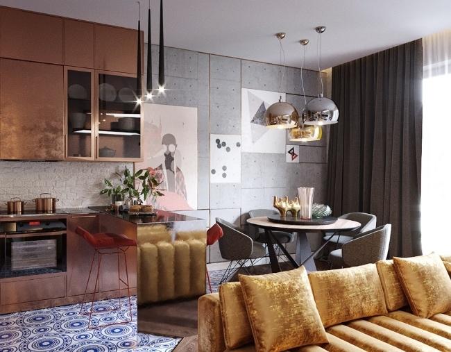 Эклектичный дизайн квартиры в подмосковном Собурово
