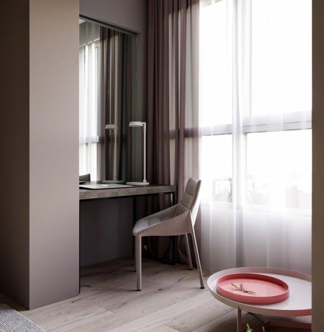 """Кухня """"за стеклом"""". Дизайн апартаментов от Константина Килдинова"""