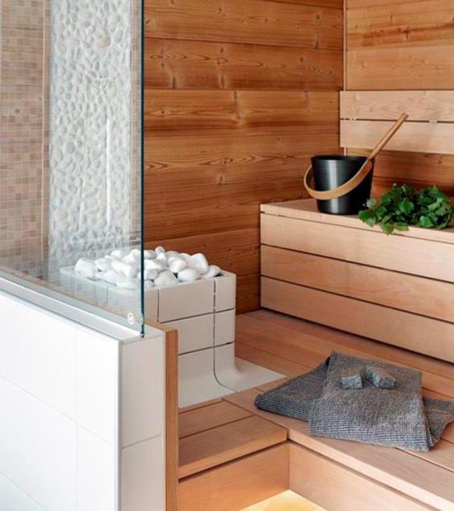 Парная дома. 30 стильных идей организации сауны и парилки в интерьере