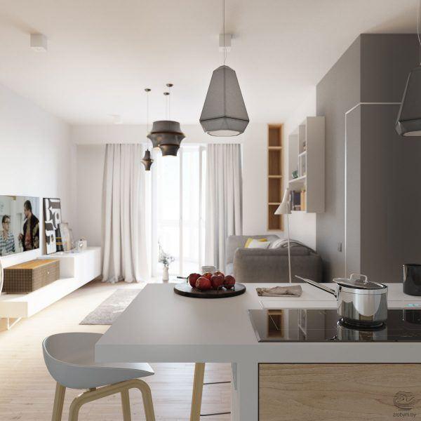 Маленькая квартира в Минске от дизайнеров Zrobym