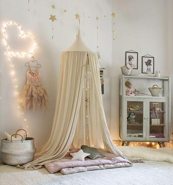 15 красивых идей украшения детской световой гирляндой