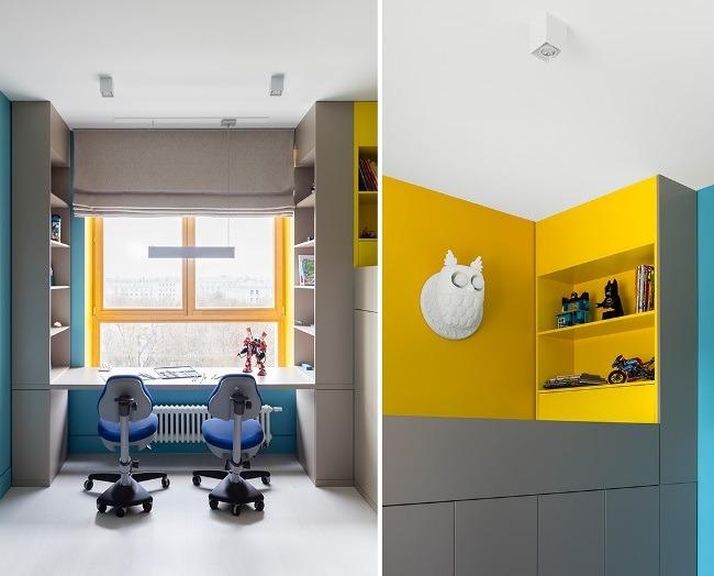 Интерьер квартиры в стиле фьюжнв ЖК «Вэлтон парк»