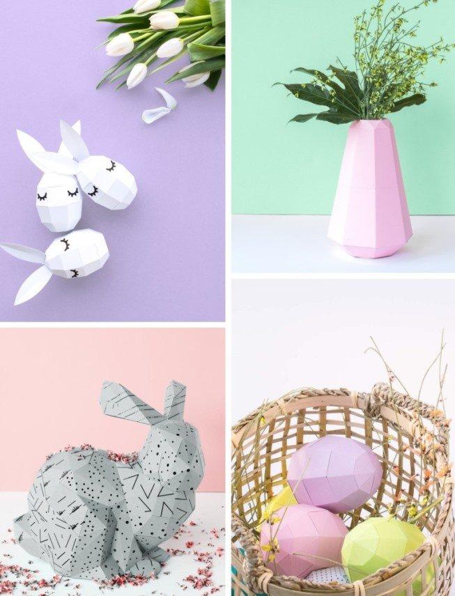 4 идеи пасхальных оригами