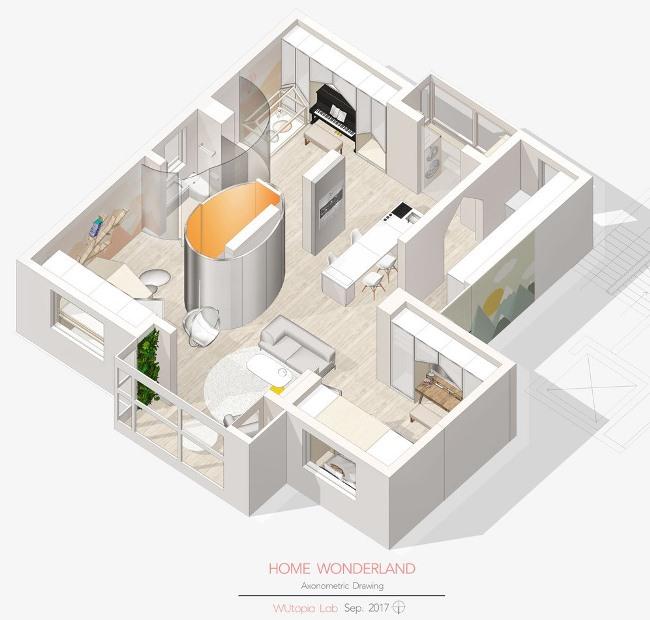 Апартаменты «Dream Reforms House» в Шанхае от Wutopia Lab