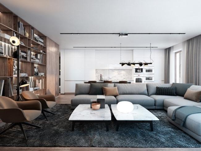 Стильная квартира в Киеве для молодой семьи от Diff.Studio