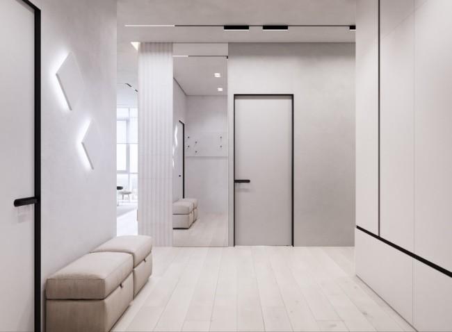 Проект дизайна квартиры WHITE BREATH в Днепропетровске