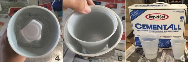 Смятые цементные стаканчики: стильное кашпо для цветов и зелени