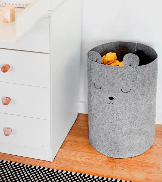 Корзина «Мишка» для белья или игрушек — идеальная находка для детской комнаты