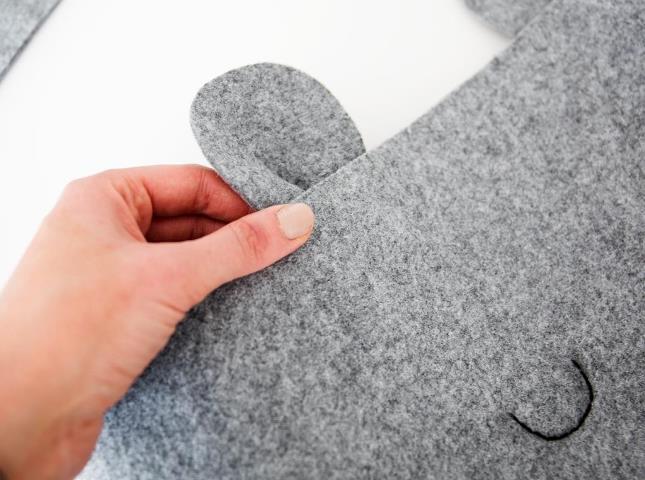 """Корзина """"Мишка"""" для белья или игрушек - идеальная находка для детской комнаты"""