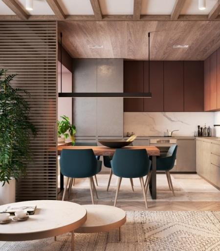 HEYWOOD — стильные апартаменты для молодой семьи от Tobi architects