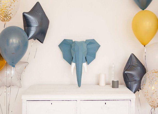 Полигональные скульптуры из бумаги в технике papercraft