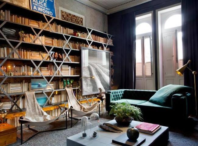 20 невероятных разнообразных гостиных