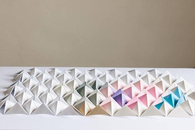 DIY панно в стиле оригами