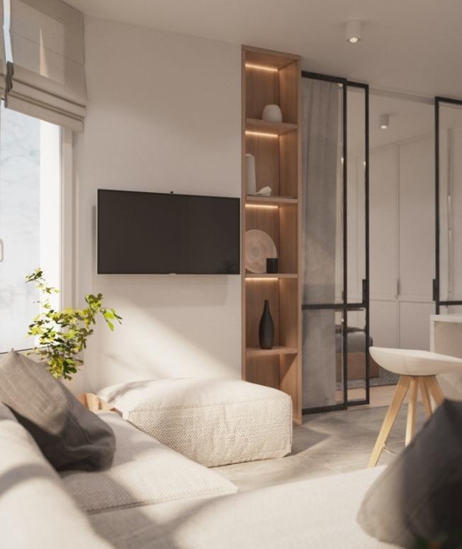 Интерьер двухкомнатной квартиры от NODE design