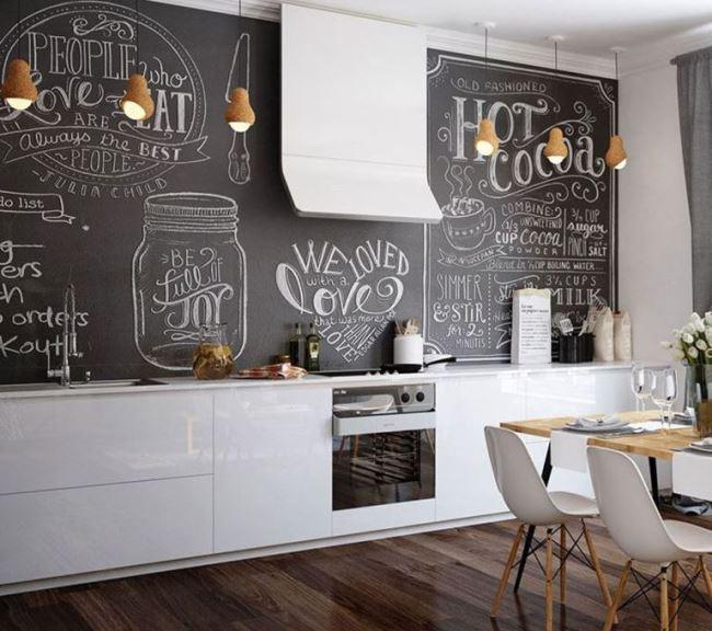 Черно-белая кухня. 15 способов поставить яркий акцент