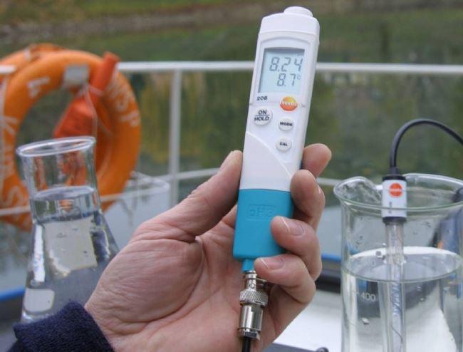 анализ состава воды при помощиph метра