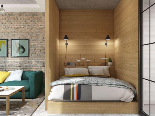 Компактная квартира в лофте от ANNA VORON