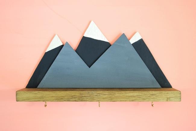 """Полка Mini Mountain. """"Маленькие горы"""" своими руками"""