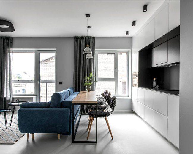 10 стильных столовых с мебелью из массива