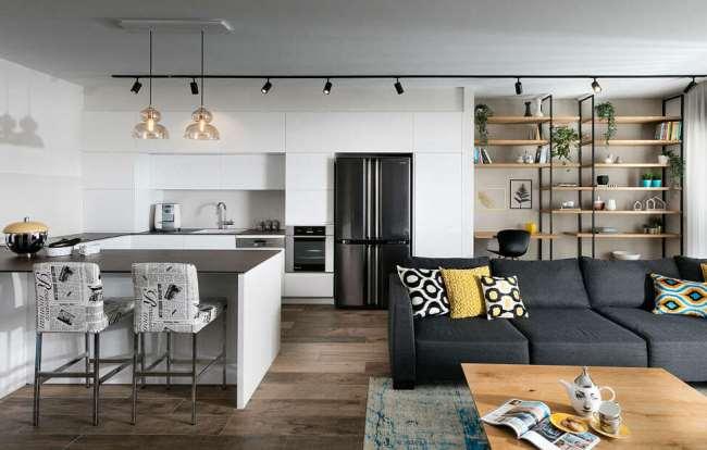 Кухня, совмещенная с гостиной. Варианты планировки