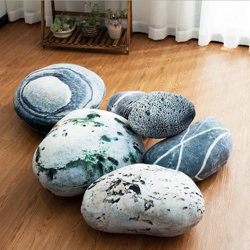 Напольные подушки-камни