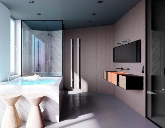 25 стильных идей ванных комнат