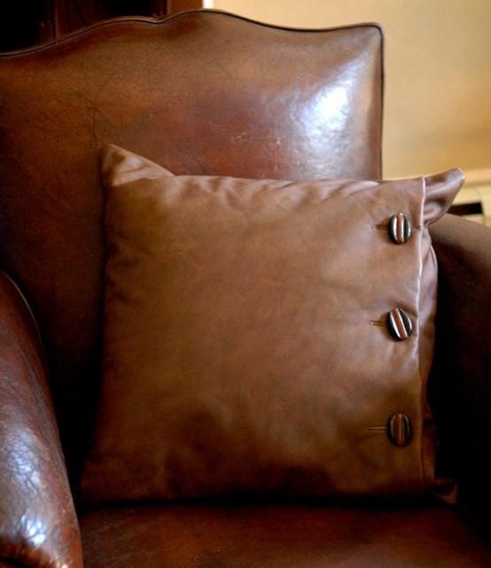 15 идей украшения дома при помощи кожаных аксессуаров