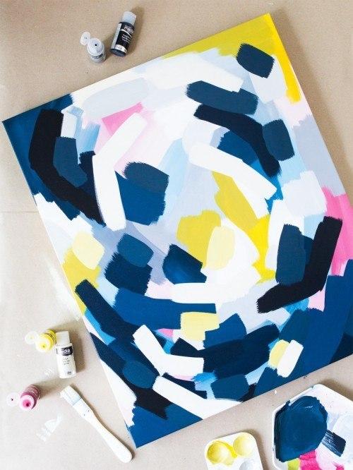 как самому нарисовать картину или постер, постеры обои фото, идеи дизайна интерьера, декор своими руками для дома, декор стен