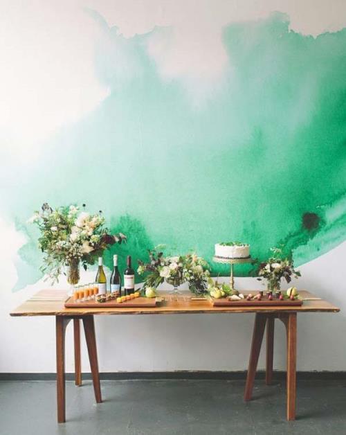 21 потрясающая идея акварельной росписи на стенах