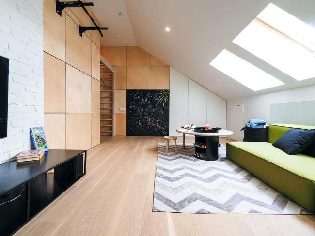 Двухуровневые апартаменты от Line Design Studio в Калининграде