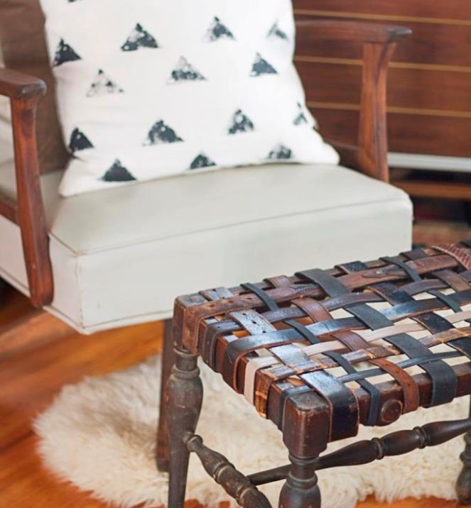 Стул из ремней, мебель своими руками фото, переделка мебели своими руками, Как сделать стул своими руками, Как сделать стул
