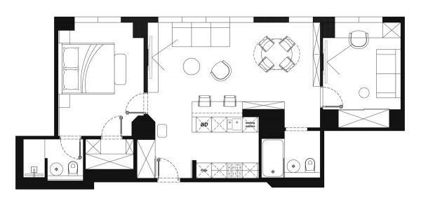 Светлые апартаменты в Бруклине от Zrobym Architects