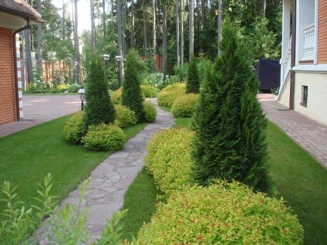 Как создать иллюзию длины в саду