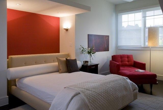 сочетание цветов в интерьере, интерьер спальни